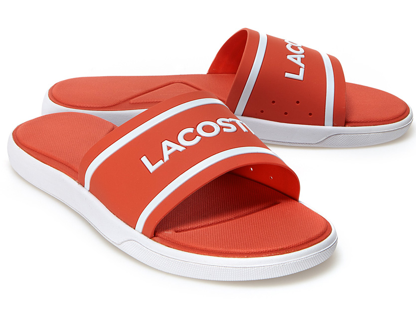 fb2a6678d554 LACOSTE Lacoste sandals men gap Dis unisex brand L 30 SLIDE 118 shower  sandals sports sandal shoes crocodile logo golf LACOSTE SPORT sports  CAM-0061 ...