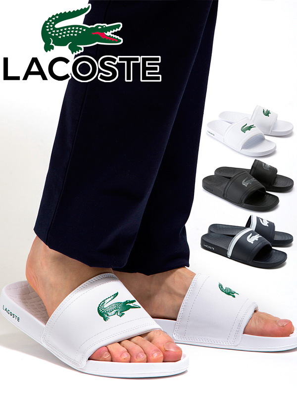 f0e5c7f15622 LACOSTE Lacoste men sandals FRAISIER BRD1 shower sandal shoes crocodile  logo golf MAE057