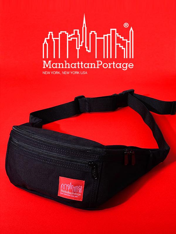 Manhattan Portage マンハッタンポーテージ ショルダーバック バッグ ウエストバッグ ミニショルダー ミニバッグ 斜め掛け メンズ レディース ユニセックス Alleycat Waist Bag ブラック コーデュラ素材 正規品 通勤 通学 MP1101