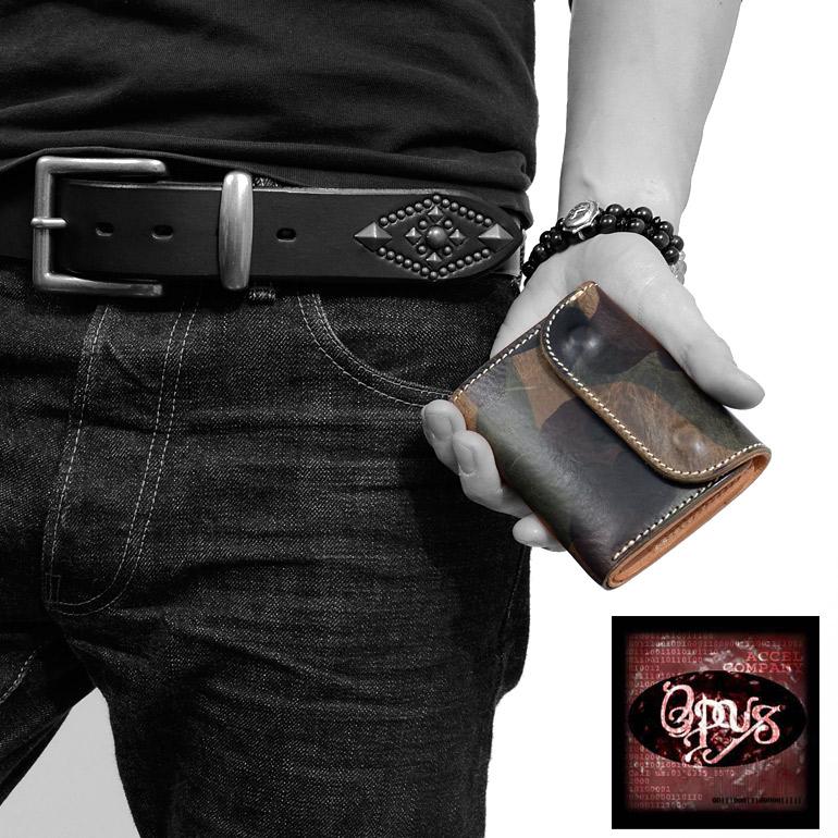 OPUS オーパス ミニ ウォレット 迷彩 カモフラージュ ショート レザー 革 皮 OCW-C1  母の日 プレゼント ギフト ラッピング