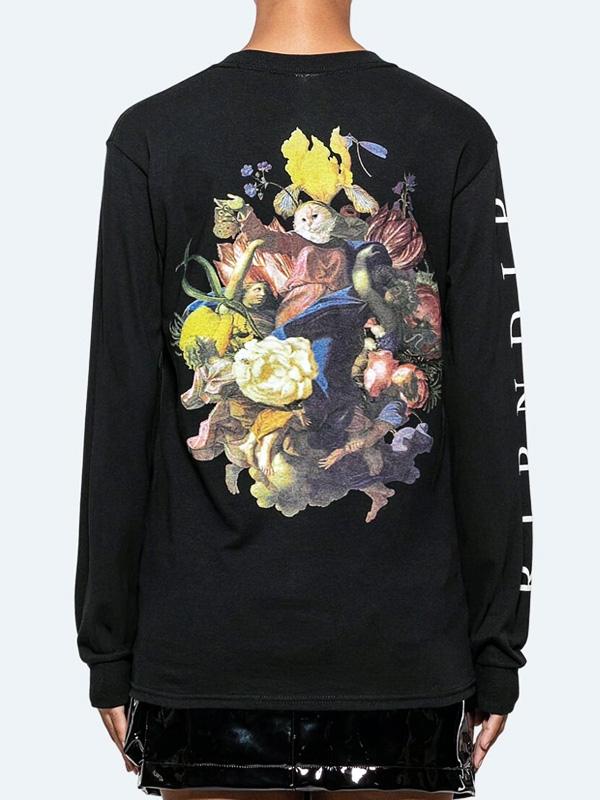RIPNDIP リップンディップ Tシャツ メンズ レディース ユニセックス ブランド 長袖 ロンT 大きいサイズ ブランド おしゃれ かわいい 猫 ネコ グッズ Heavinly Bodies LS 聖母 リッピンディップ ストリート スケーター RND3747