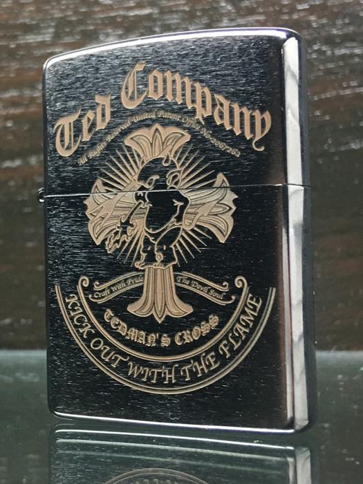 TEDMAN テッドマン 別注商品 zippo 限定 ZIPPOライター ジッポライター ジッポ ライター ジッポー 喫煙具 かっこいい シンプル エフ商会 デビル 赤鬼 クロス ロゴ TDZ-031