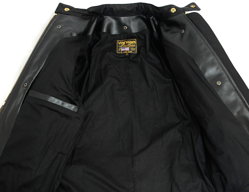 卡車損失VANSON皮夾克DAITONA DAYTONA單人騎手外衣本皮革美國製造9RJV