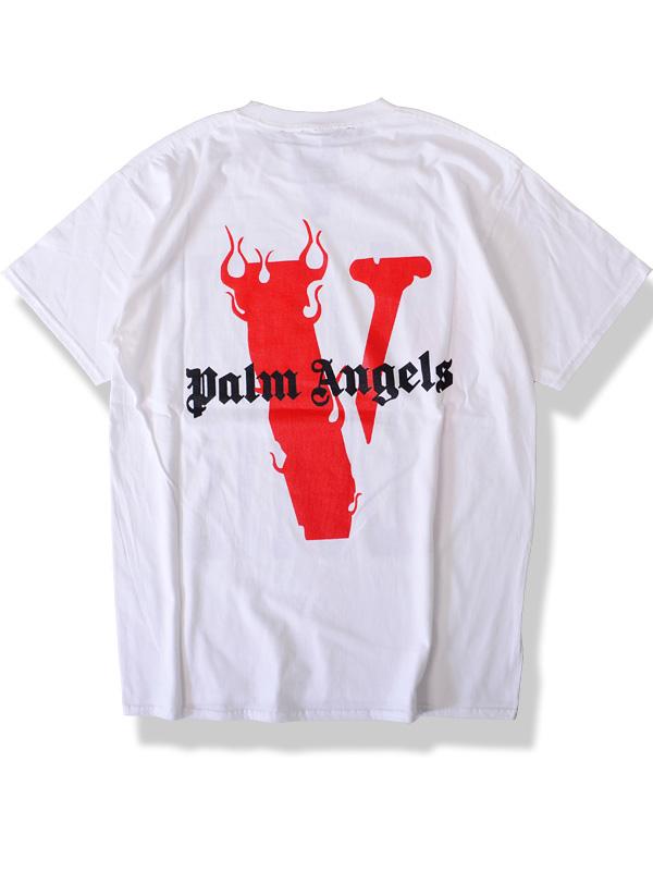 50ab1123 VLONE X Palm Angels Vee Ron Vee loan T-shirt men gap Dis unisex short ...
