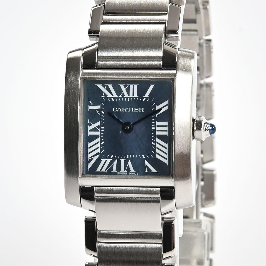 全品送料無料 ショッピングローン24回まで無金利 信販会社ジャックス 中古 A品 カルティエ レディース ブルーシェル W51034Q3 レディース腕時計 タンクフランセーズSM 祝日