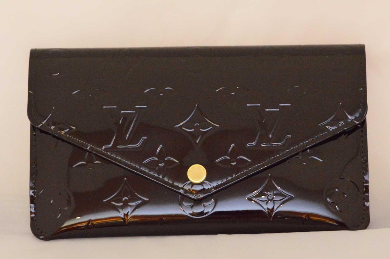 (1243) 【ルイ・ヴィトン】 ルイヴィトン ヴェルニ ポルトフォイユジャンヌ М61688 二つ折り長財布 アマラント 新品同様 [財布] 【新品同様】