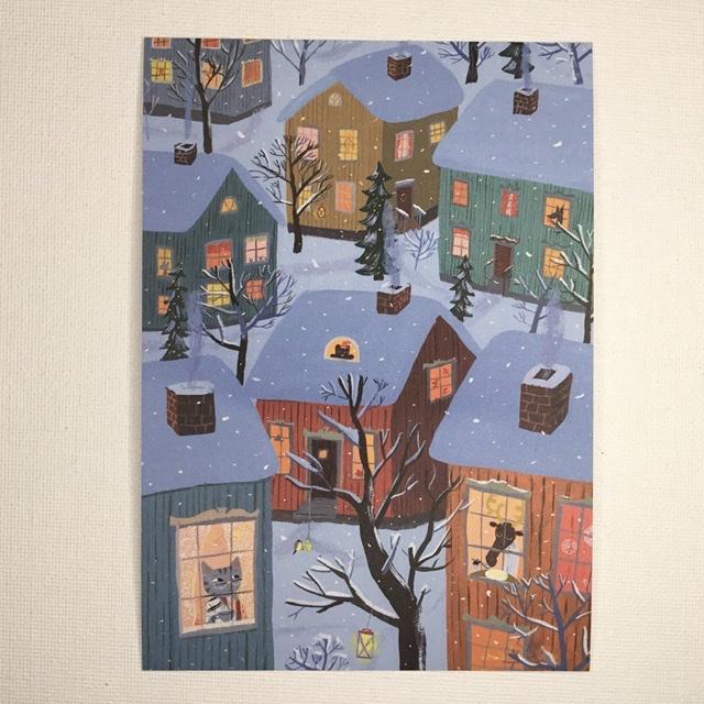 フィンランド Kehvola 特売 格安店 Design Matti pikkujamsa マッティ 北欧 クリスマスの朝 ピックヤムサ Jouluaamu ポストカード