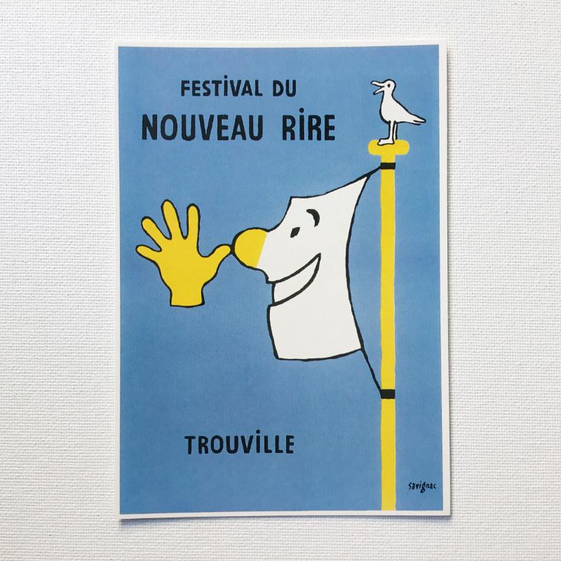 通販 フランス Raymond Savignac レイモン サヴィニャック 誕生日プレゼント 笑いの祭り ポストカード 1991年