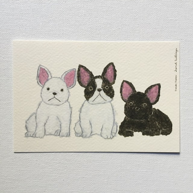 米津祐介 Yusuke Yonezu ポストカード 1着でも送料無料 フレンチブルドック French bulldogs 物品