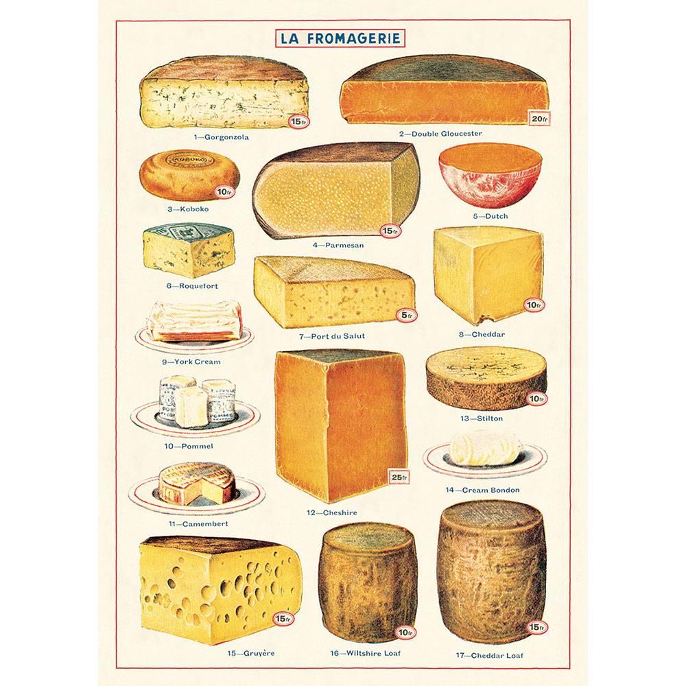 アメリカ CAVALLINI カヴァリーニ 新色追加して再販 ラッピングペーパー Cheese 正規逆輸入品 ポスター チーズ