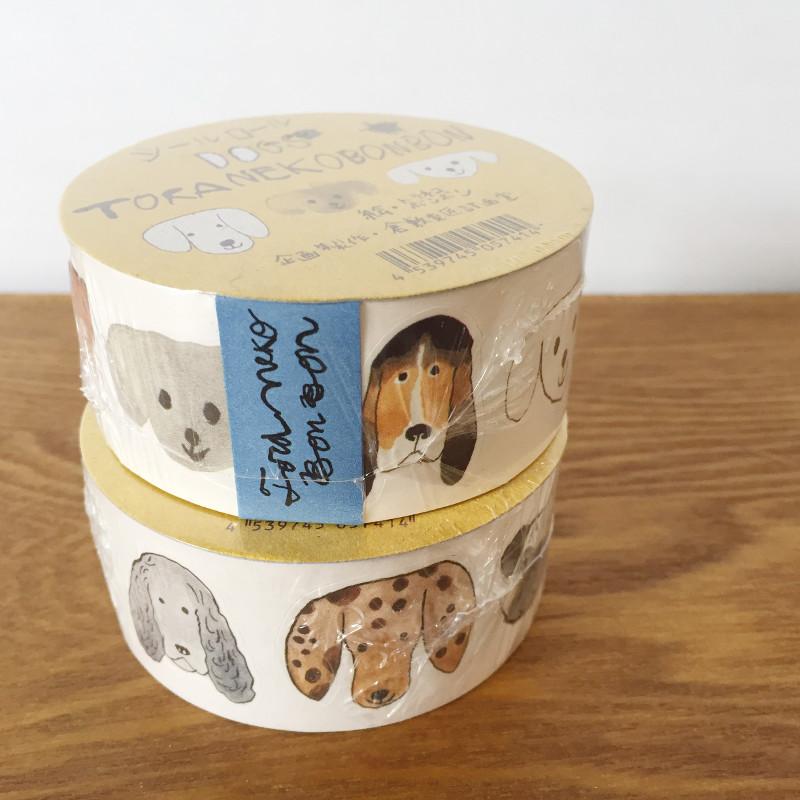 トラネコボンボン シールロール30mm 売店 Dog オリジナル イヌ