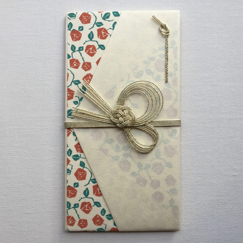 超目玉 華やかな中にも品のある女性らしい祝儀袋です 高品質 古川紙工 花鳥風月 薔薇赤 祝儀袋 はなはな