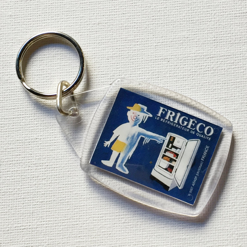 フランス Raymond Savignac サヴィニャック キーホルダー 家電メーカー 1959年 FRIGECO 未使用品 送料無料 新品