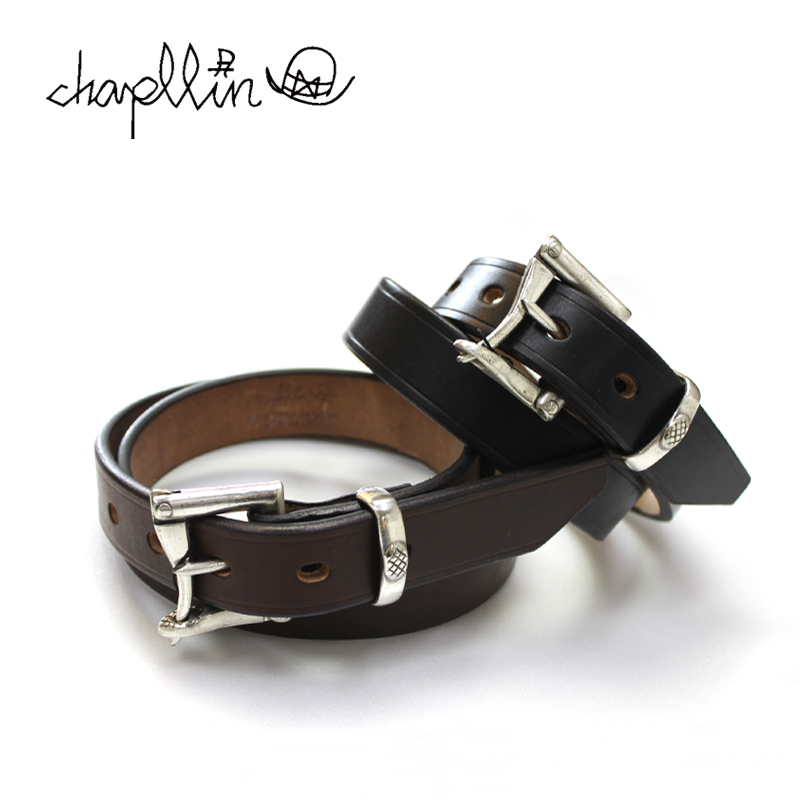 chapllin チャップリン ベルト UK SADDLE LEATHER FIREMAN BELT SILVER CPB-FIREMAN-UKSDN 【革 レザー サドルレザー 牛 ブラス】10P03Dec16