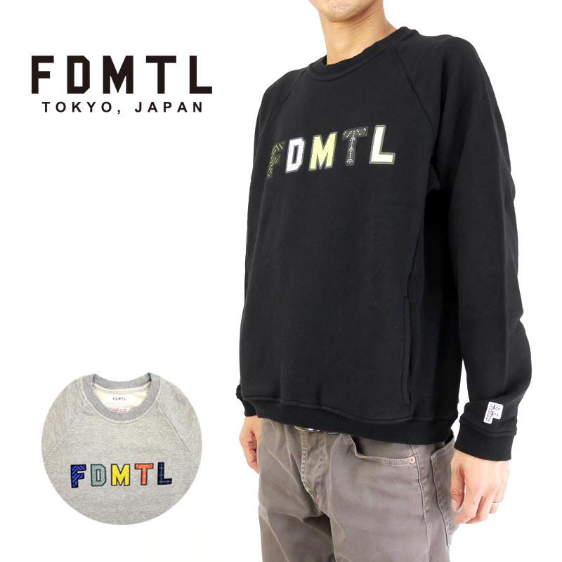 FDMTL ファンダメンタル スウェット SASHIKO LOGO SWEAT SHAIRT FA19/CS31 【メンズ インディゴ 日本製】10P03Dec16