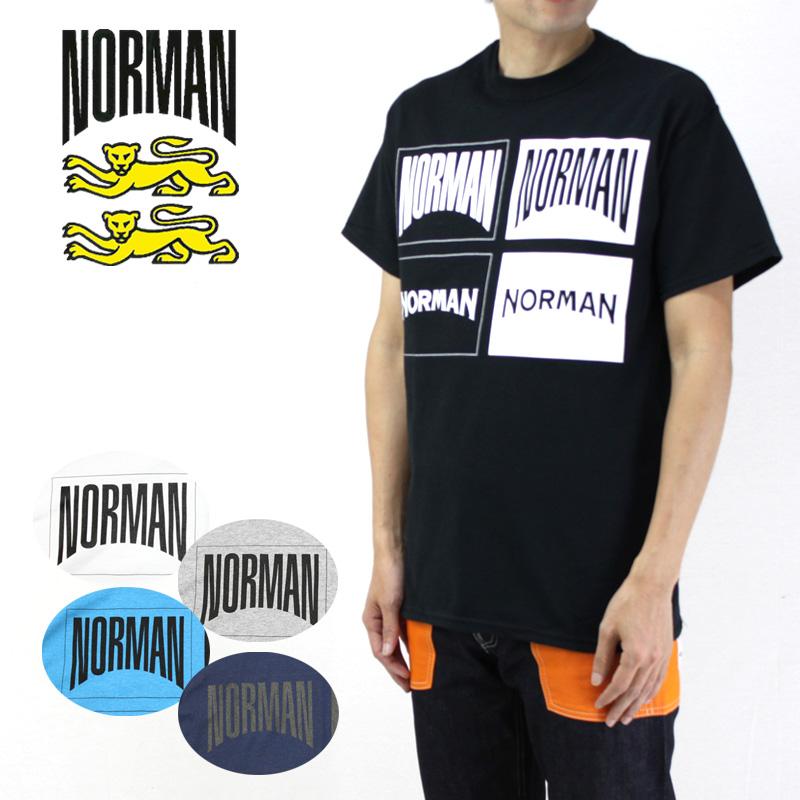 NORMAN ノルマン 半袖 Tシャツ LOGO PRINT CREW NECK TEE SHIRTS NOR-0017 【ロゴ フレンチトラッド フランス メンズ 】10P03Dec16