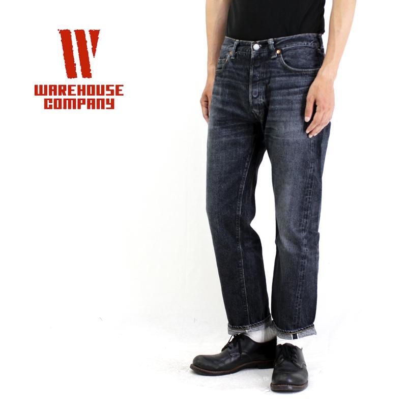 WAREHOUSE ウエアハウスパンツ2ND-HANDUSED WASH 2ND-HAND-1100-BLACK 【メンズ デニム ジーンズ ユーズドウォッシュ ヴィンテージ】10P03Dec16