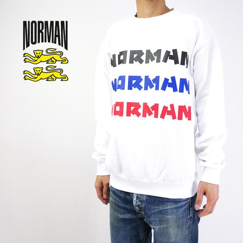 NORMAN ノルマン スウェット Logo Print Crew Neck Sweat Tee Shirts NOR-0035 【ロゴ フレンチトラッド フランス メンズ 】10P03Dec16