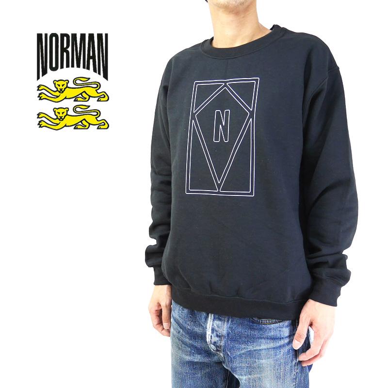NORMAN ノルマン スウェット Logo Print Crew Neck Sweat Tee Shirts NOR-0036 【ロゴ フレンチトラッド フランス メンズ 】10P03Dec16