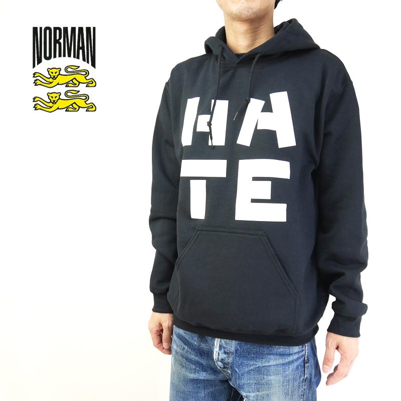 NORMAN ノルマン スウェット Logo Print hooded sweatshirt