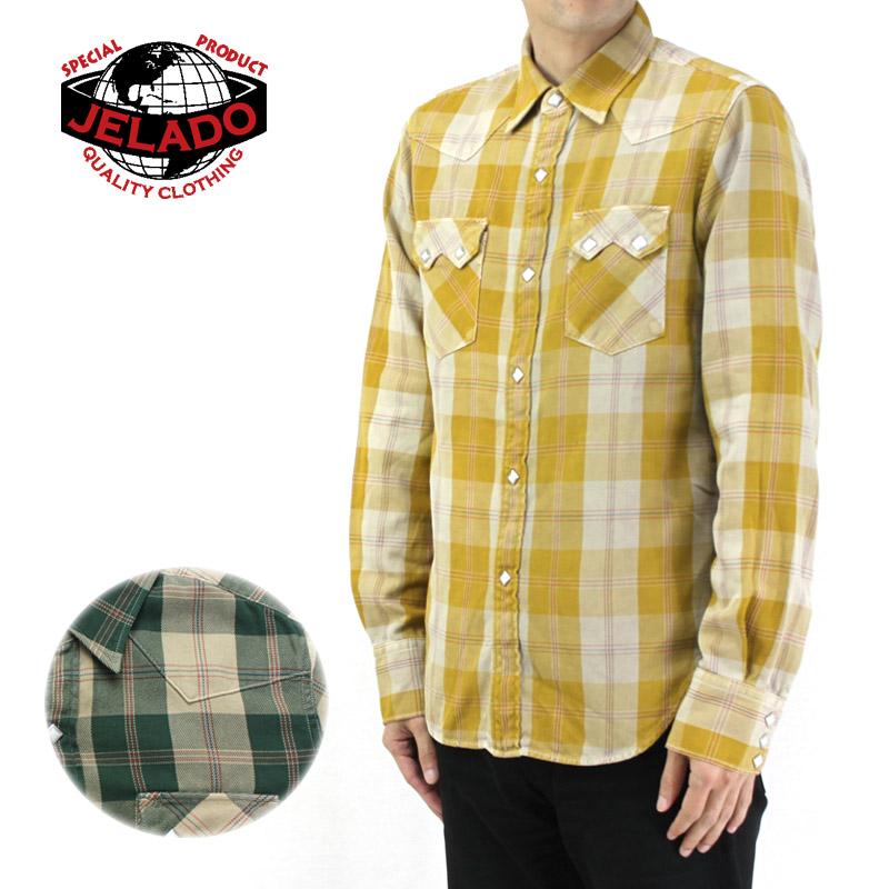 JELADO ジェラード 長袖 シャツ BASIC COLLECTION Vintage Check Western Shirts JP41121 【メンズ アメカジ チェックシャツ ヴィンテージ】10P03Dec16