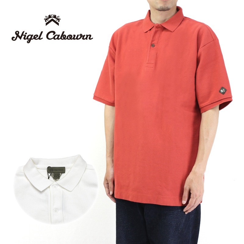 Nigel Cabourn ナイジェルケーボン 半袖ポロシャツ BIG POLO SHIRT 80380021040 【メンズ ビッグポロ オーバーサイズ 】10P03Dec16