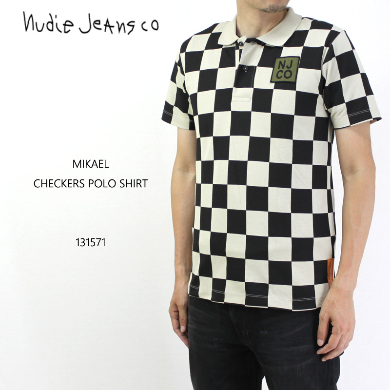 nudie jeans ヌーディージーンズ 半袖ポロシャツ MIKAEL CHECKERS POLO SHIRT 131571 10P03Dec16