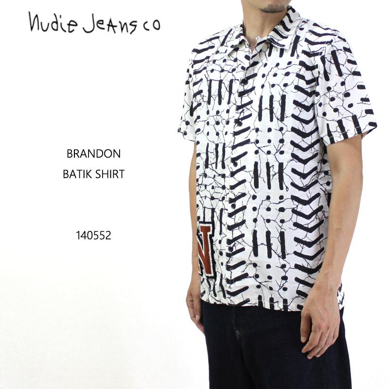 nudie jeans ヌーディージーンズ 半袖シャツ BRANDON BATIK 140552 10P03Dec16