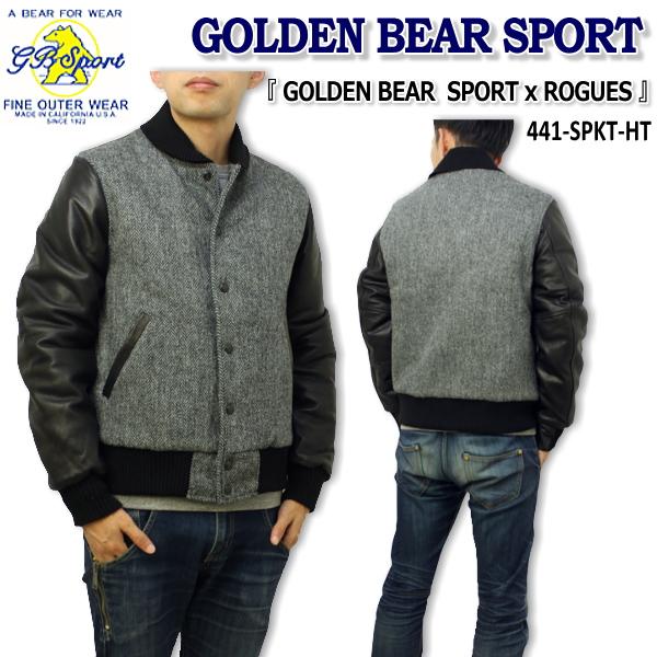 Golden Bear Sportswear ゴールデンベアジャケット・スタジャン『 GOLDEN BEAR × ROGUES STUDIUM JACKET 』441-SPKT-HI【smtb-k】【ky】10P03Dec16
