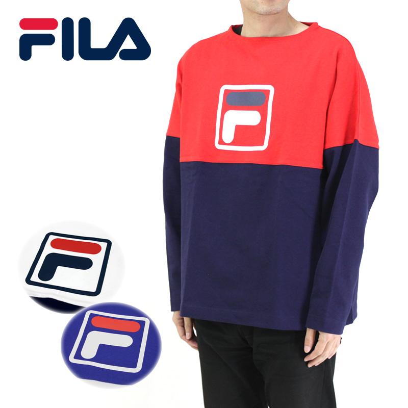 FILA フィラ 長袖Tシャツ CREW NECK SHIRT FM9551 【オーバーサイズ クルーネック ユニセックス】10P03Dec16