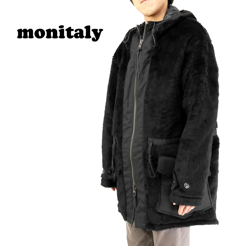 MONITALY モニタリー ジャケット KODIC FUR COAT M26004 【メンズ コート】10P03Dec16