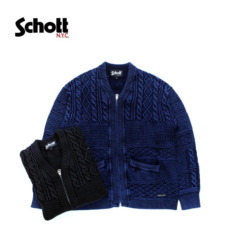Schott ショット ニット・カーディガン