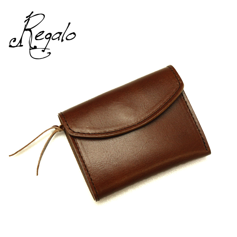 Regalo レガーロ ウォレット 「Dolce」 BROWN WC-DOLCE 【財布 本革 牛革 レザー 三つ折り プレゼント 】10P03Dec16