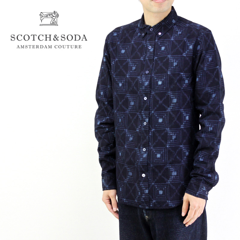 SCOTCH&SODA スコッチアンドソーダ 長袖シャツ INDIGO CHECK SHIRT REGULAR FIT 147855 282-71415 10P03Dec16