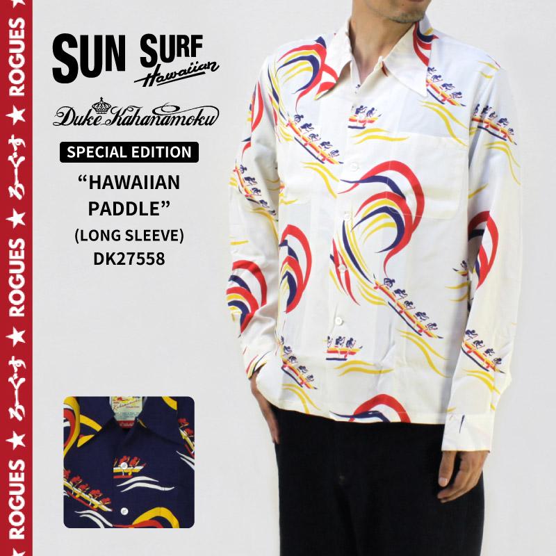 SUN SURF サンサーフ長袖 アロハ シャツDUKE KAHANAMOKU2017 SPECIAL EDITIONLONG SLEEVE