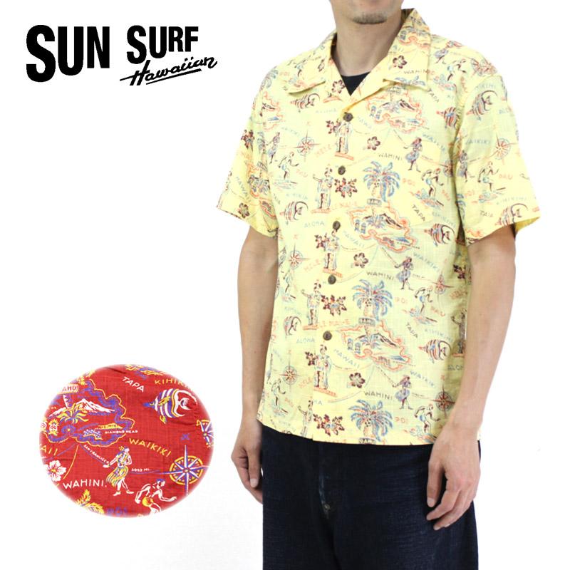 SUN SURF サンサーフ アロハシャツ COTTON / LINEN SLUBYARN OPEN SHIRT