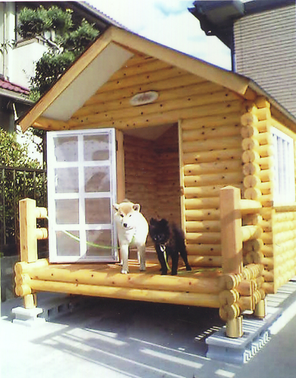 ログペットハウス 1550型 デラックス 屋外 大型犬 中型犬 小型犬 柴犬 ゴールデンレトリバー ラブラドールレトリバー 犬小屋 犬舎