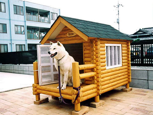 ログペットハウス 1100型 デラックス 屋外 犬小屋 中型犬 小型犬 柴犬 犬舎