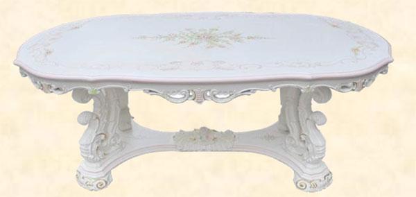 ダイニングテーブル ダイニングテーブルセット センターテーブル 幅200cm 北欧 ホワイト MDF 花柄 クラシック アンティーク 送料無料