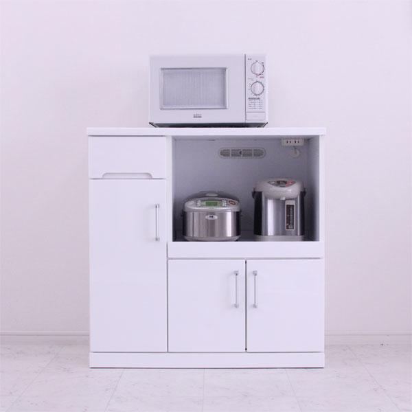 キッチンカウンター キッチン収納 レンジ台 完成品 90