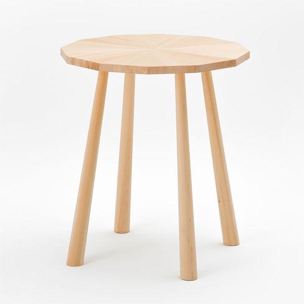カフェテーブル 丸 円 64cm ヒノキ製 日本製 天然木 【代引不可】【受注生産】