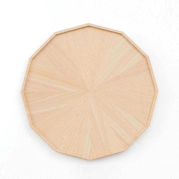 平盆 日本製 天然木【代引不可】【受注生産】