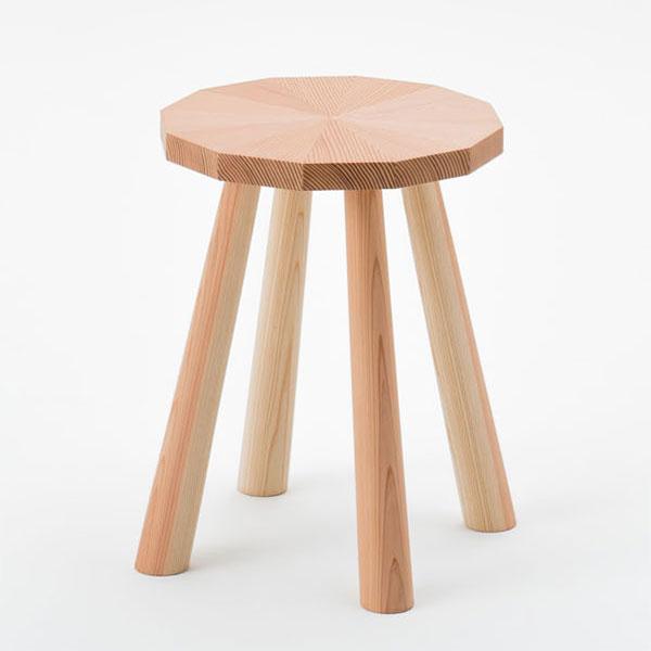 天然木 スツール 椅子 イス 杉製 スギ製 日本製 完成品オイルワックス仕上げ 【代引不可】【受注生産】
