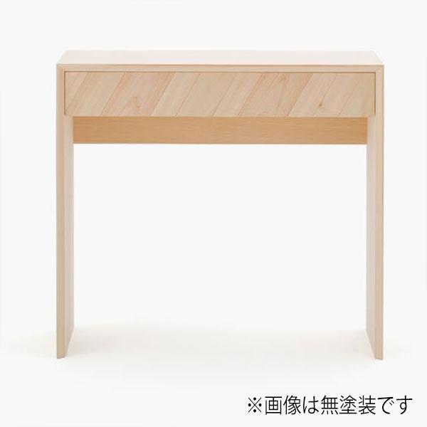 ミニデスク ヒノキ製 幅80cm 天然木 日本製 机 書斎デスク【代引不可】【受注生産】