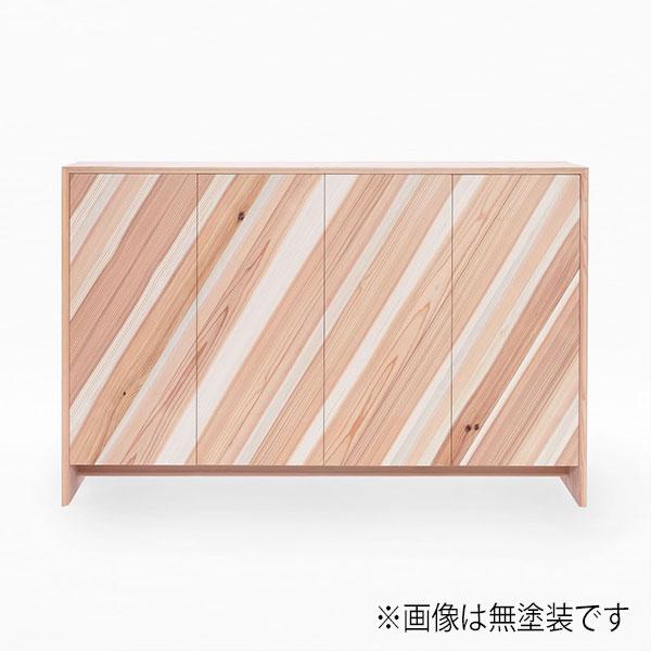 サイドボード スギ製 幅148.5cm 日本製 天然木 キャビネット 【代引不可】【受注生産】
