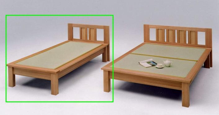 畳ベッド シングルベッド 木製 魁ヘッドボード付き シングル畳ベッド ナチュラル 日本製