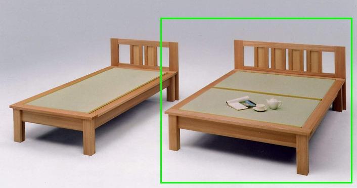 畳ベッド ダブルベッド 木製 魁ヘッドボード付き ダブル畳ベッド ナチュラル 国産 和風モダン