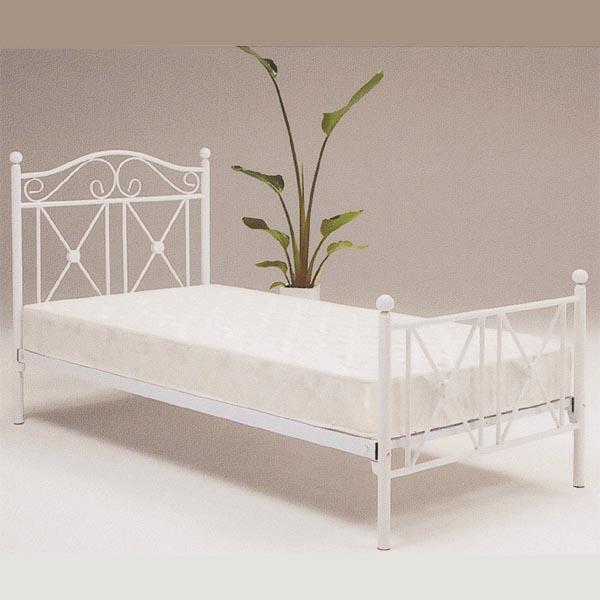 ベッド フレームのみ シングルベッド スチールベッド パイプベッド 姫系 お姫様 おしゃれ クラシック レトロ ヨーロッパ ホワイト ブラック