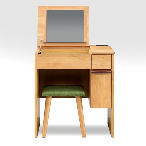 ドレッサー 一面鏡 デスクドレッサー 65 北欧 鏡台 椅子付きドレッサー スツール 化粧台 北欧 ベーシック ナチュラル ミッドセンチュリー シンプル モダン 送料無料