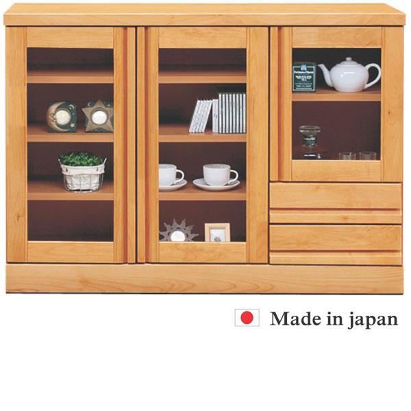 キャビネット サイドボード リビング収納 幅120cm 完成品 日本製 シンプル モダン 壁面家具 リビングボード 木製 ガラス扉 おしゃれ